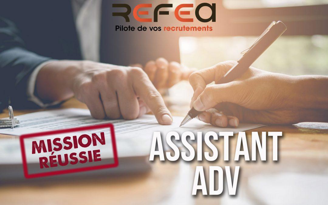 Mission Réussie ! Assistant ADV (F/H)