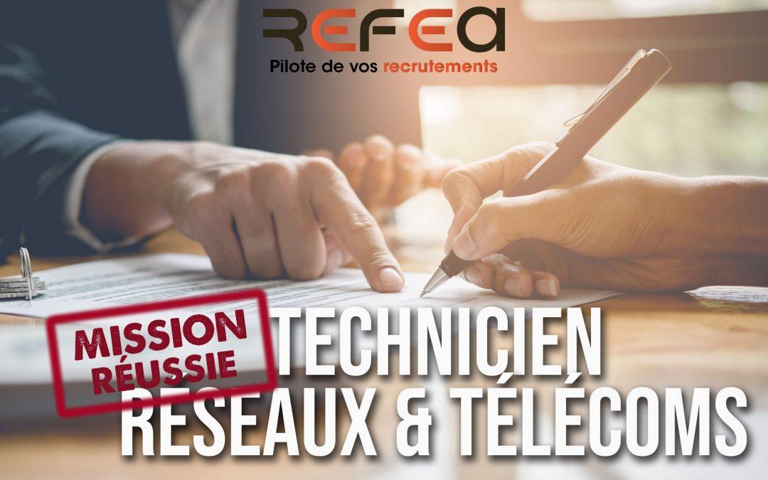 Mission Réussie – Technicien Réseaux & Télécoms (F/H)