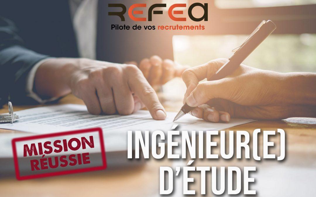 Mission Réussie ! Ingénieur d'Etudes et Développement (F/H)