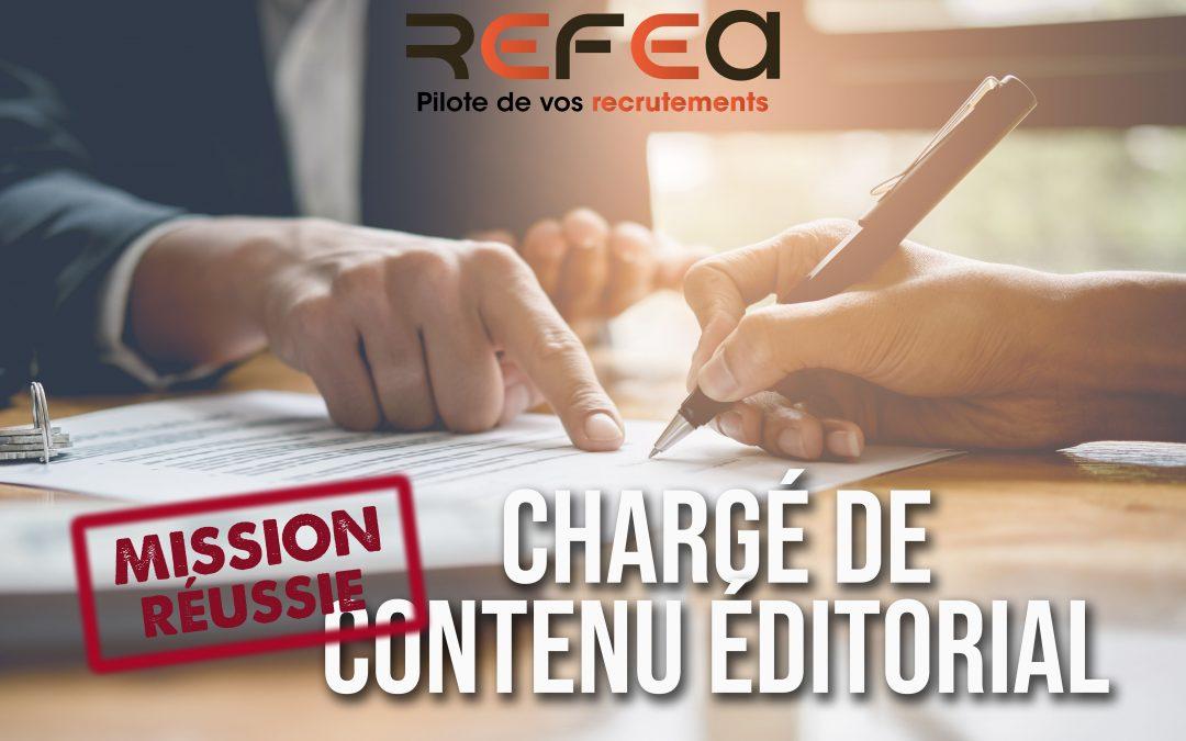 Mission Réussie – Chargé de Contenu Editorial (F/H)