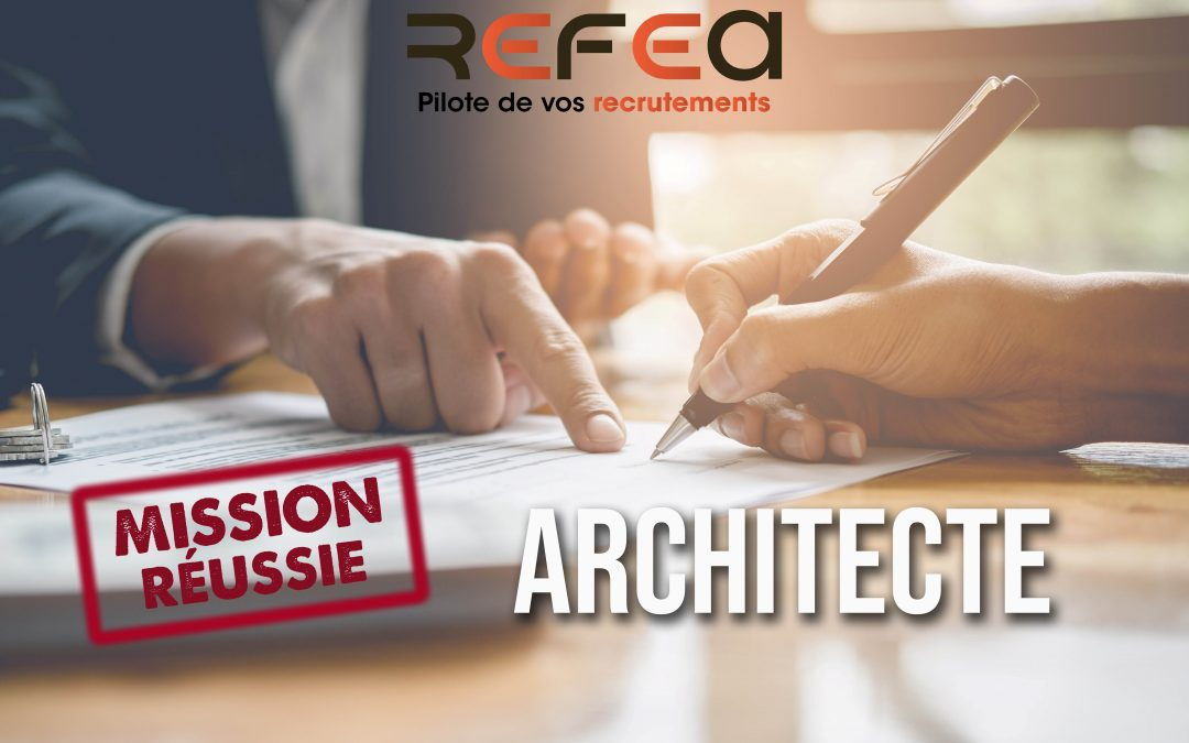 Mission réussie – Architecte (F/H)
