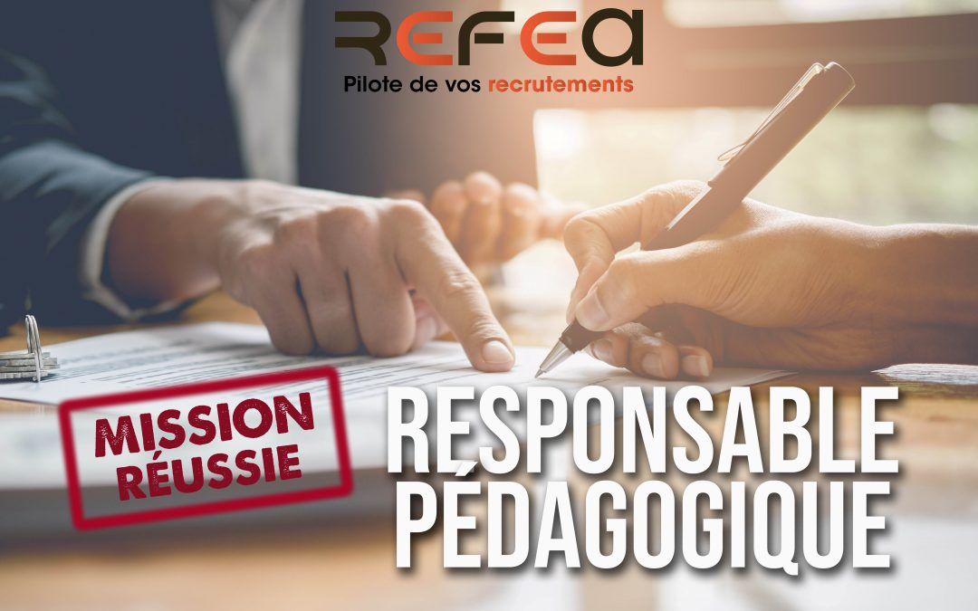 Mission Réussie ! Responsable Pédagogique (F/H)