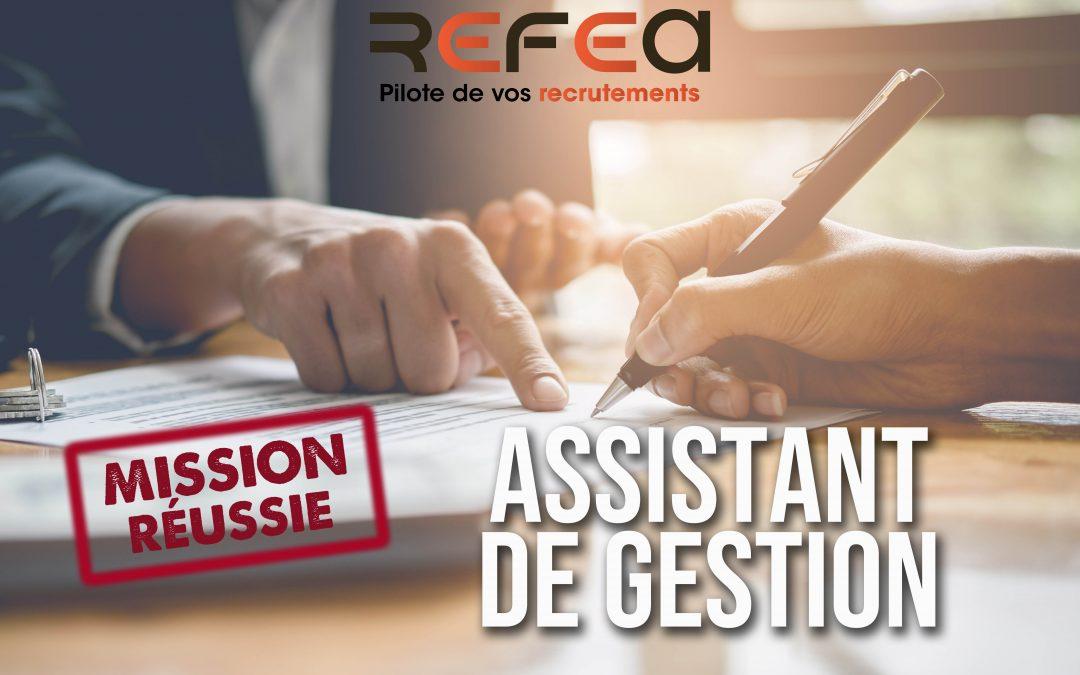 Mission Réussie ! Assistant de Gestion (F/H)