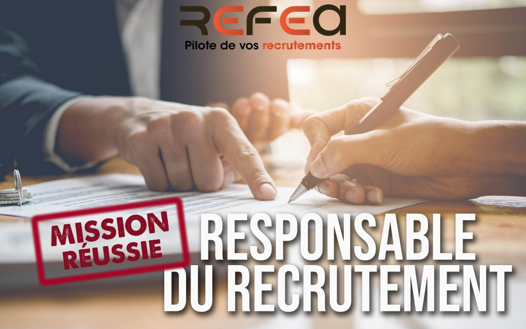 Mission Réussie – Responsable du Recrutement (F/H)