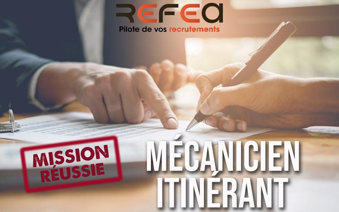 Mission Réussie ! Mécanicien Itinérant (F/H)