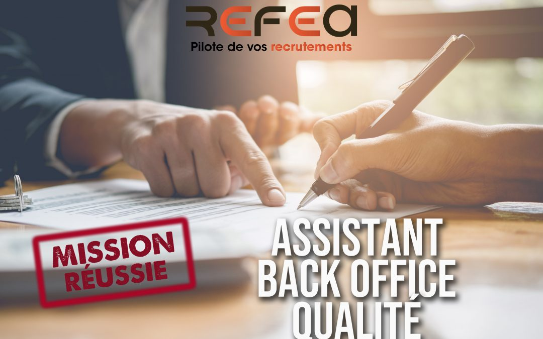 Mission Réussie – Assistant Qualité (F/H)